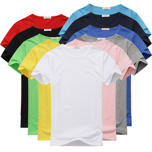 OEM Custom Basic Plain 100% Cotton Short Sleeve Round(O) Neck Basic Unisex T-Shir, Casual Sports Tee Shirt