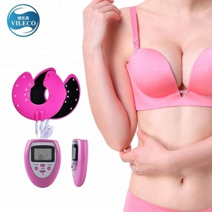 Hot High Quality Small Electric Indian Massage Bra Vibrating Nipple Silicon Breast Massager
