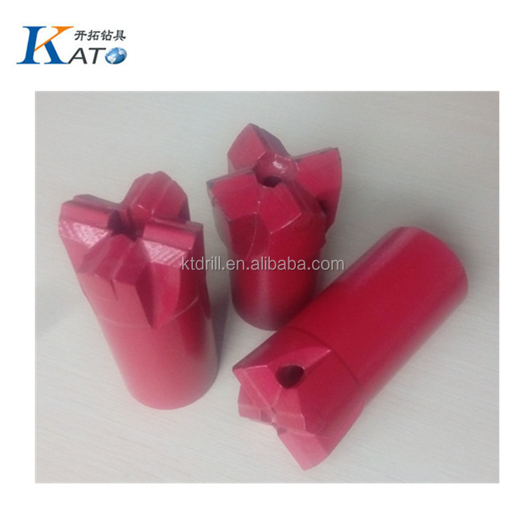 cross and x-type rock bit for granite for extension rod