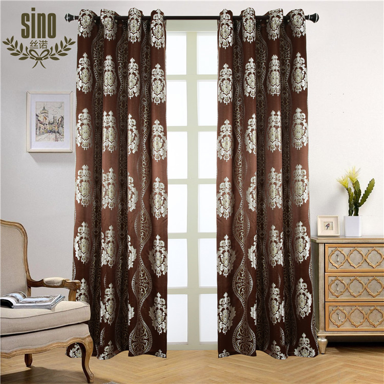 Cheap Jacquard Thermal indian style curtains