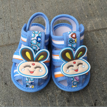 soft sole shoes Blue rabbit sandals toddler shoes Cute  Hot sale first walkers Cotton