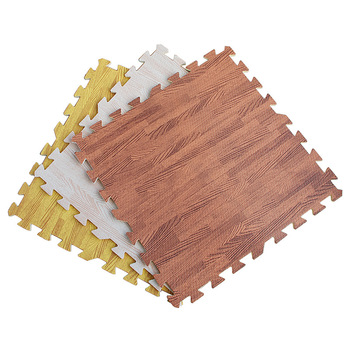 Amazon hot sale eva wood grain mat non toxic eco friendly eva interlocking puzzle mat non-slip 60x60 and 30x30