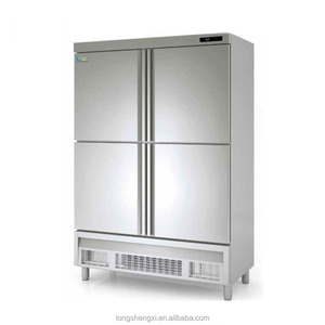 clean stainless steel commercial refrigerator for restaurant