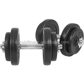 20kg barbell weights set for home gym 30mm adjustable vinyl weight bar for lifting full body