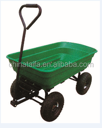 Folding Garden Cart Wagon/Dump Garden Trolley/Plastic Garden Tools  Wheelbarrow TC2146