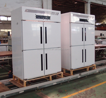 4 doors upright chiller cabinet for vegetable, meat