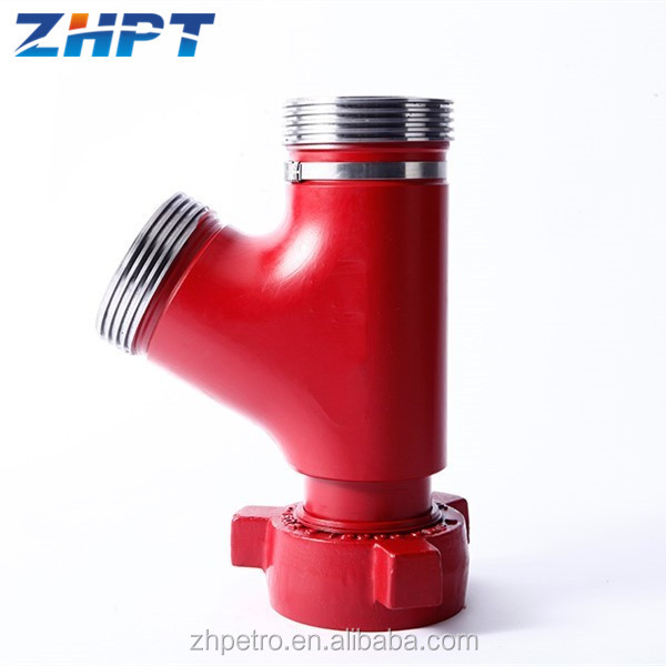 API 16C FIG 1502 High Pressure Long Radius Pipe Fitting Lateral Union Tee