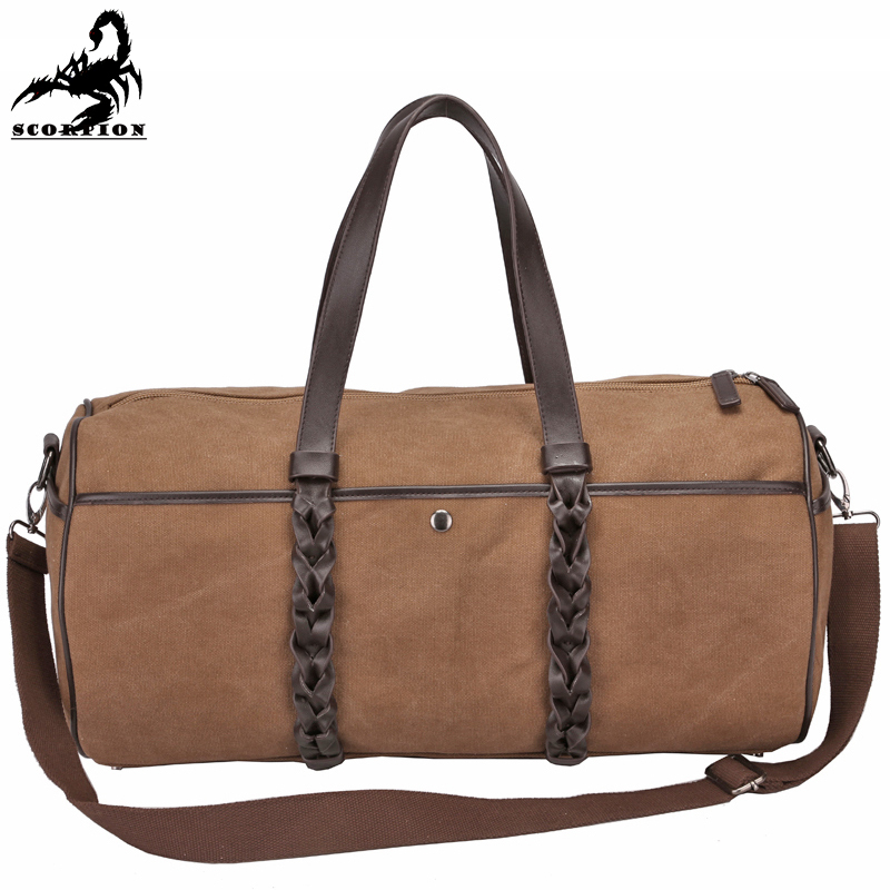 Military Duffle Bag Men Outdoor Canvas Military Traveling Bags Hiking Big  Size Sport Casual Military Canvas 1ae79fcc92f