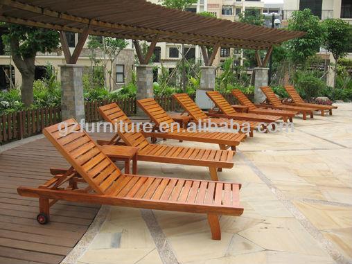 Wooden Chair Sun Lounger Outdoor Bed