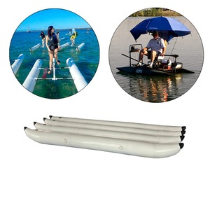 Custom Size Heavy-duty PVC Inflatable Banana Pontoons Tubes Buoy with No MOQ for Floating Water Bicycle Bike