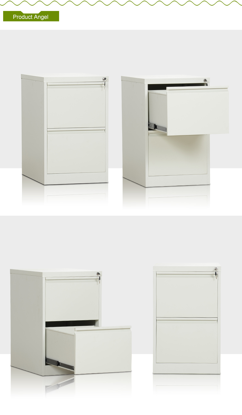 Customized New Design Sheet Metal 2 Drawer Filing Cabinet Made In China  Iron Files Cabinet
