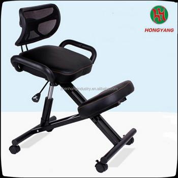 Ergonomic Kneeling Chair Swivel Poster Chair Wooden Kneeling Chair