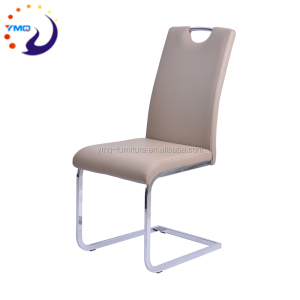 Hot selling PU dining chair with flat chrome legs dining chairs for living rooom furniture