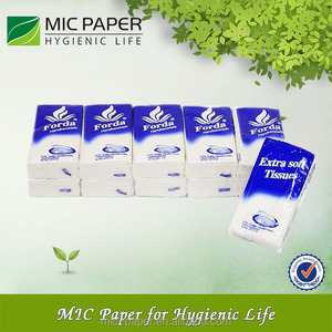 Promotional 100% woodpulp plain Pocket Tissue / Cheap White Pocket Tissue