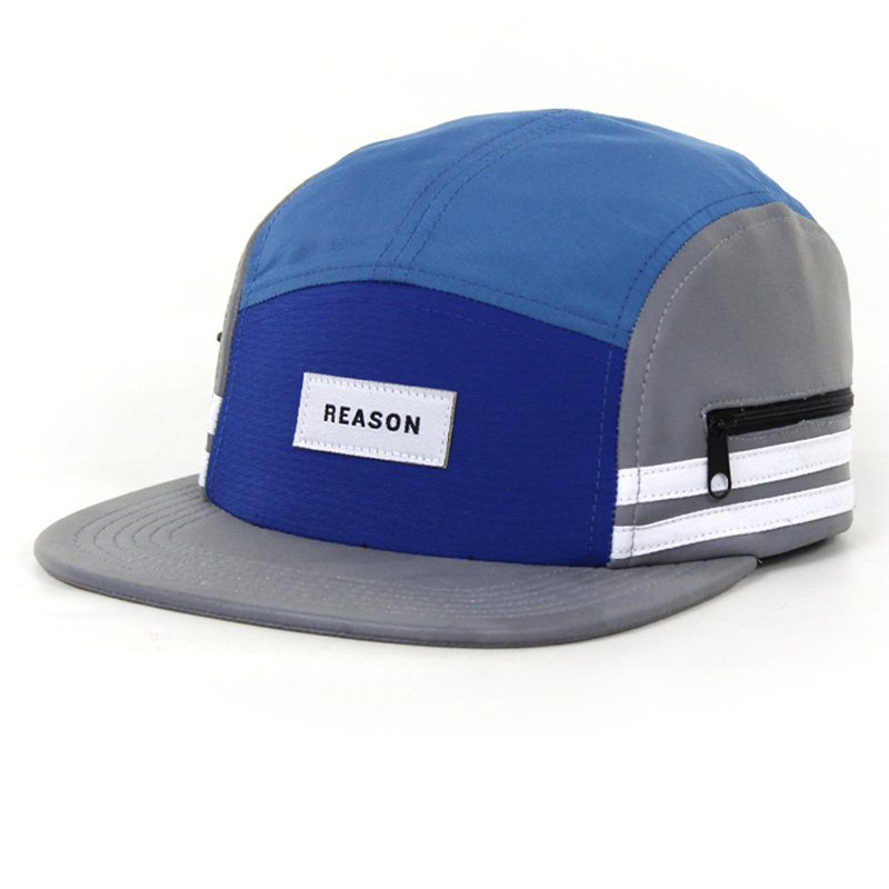 4759d683d2963 Multi-color Custom Blank 5 Panel Hats ,Wholesale Design Your Own Woven  Label Camp