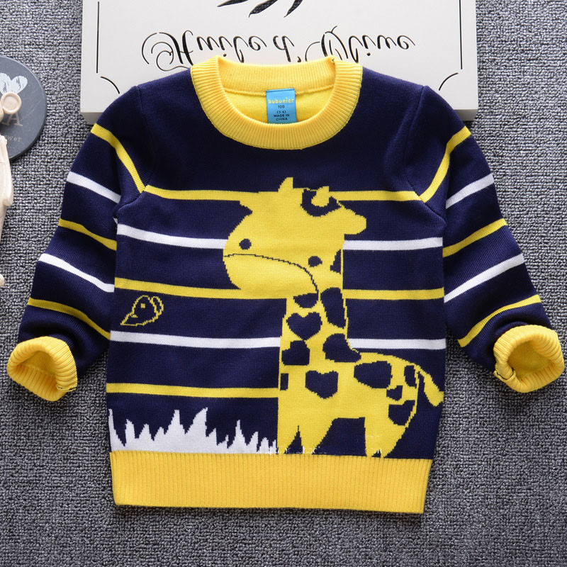 Free Shipping Striped Knitted Pullover Giraffe Knitted Pattern Baby ...