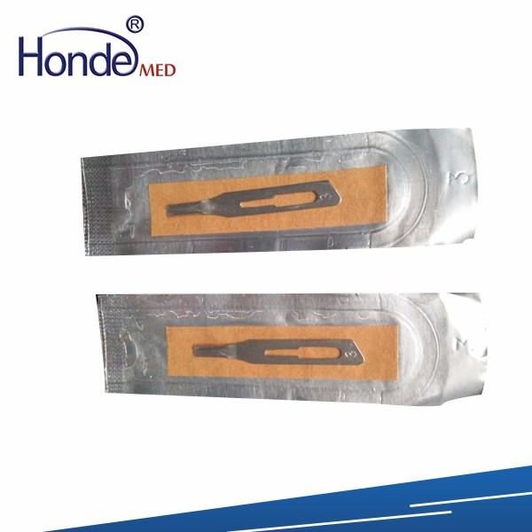 Disposable sterile carbon steel blade surgical blades cutter knife