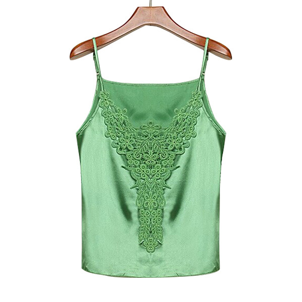 d41b3f300968a Get Quotations · Camisole Sexy Chiffon Embroidery Top Fashion Hot For Women  Blusas Women Crop Tops Femme Summer Style
