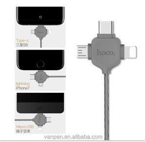 HOCO U19 Series Three In One Magnetic Adsorption Charging Cable For iPhone 6/6Plus/7/7 Plus