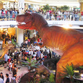 Shopping center electric dinosaur