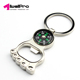 New creative ankle compass bottle opener keychain personality metal key ring pendant