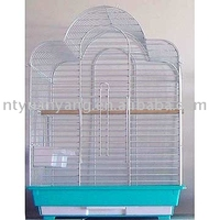 zinc plated wire mesh bird cage top open pet supply