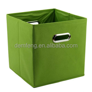Non-woven metal clasp hand storage box folding and organizing box clothes storage box