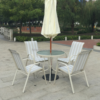 Outstanding White Outdoor Garden Balcony Aluminum Sling Fabric Patio Furniture Table Chair Set Buy Outdoor Furniture Fabric Sling Patio Furniture Sling Chair Ibusinesslaw Wood Chair Design Ideas Ibusinesslaworg
