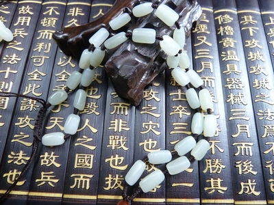HEtian jade Authentic green jade seed makings handmade necklace jewels jade stone
