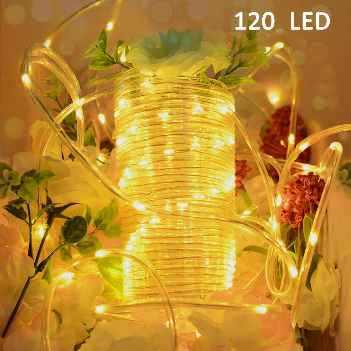get quotations vmanoo outdoor string lights 120 led battery operated string fairy christmas lighting decor timer for outdoor