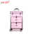 Yaeshii professional aluminum rolling trolley beauty box vanity storage makeup travel case with drawers