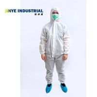 Breathable Cleanroom Overall Protective Suit Disposable Coverall