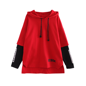 fashion new red unisex sweater high quality children's clothing