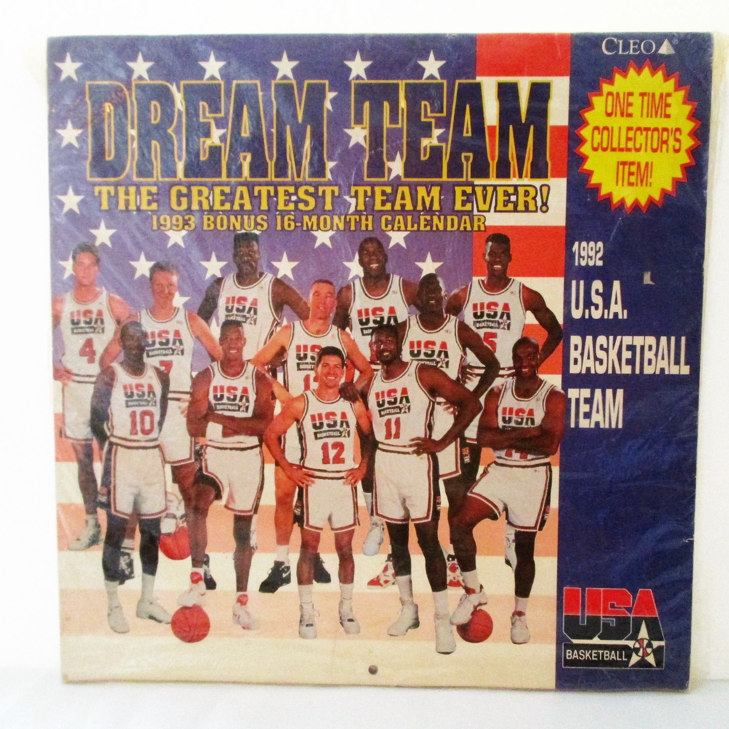 check out 10a7d 9d958 Get Quotations · Michael Jordan and The Dream Team 1993 16 Month Calendar  of The 1992 U.S.A. Basketball Team