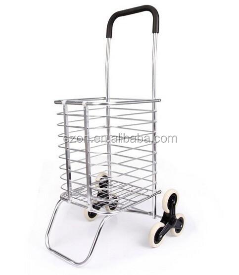 מצטיין עגלת קניות מתקפלת מתכת/אלומיניום מתקפל עגלת קניות קידום מכירות WP-06