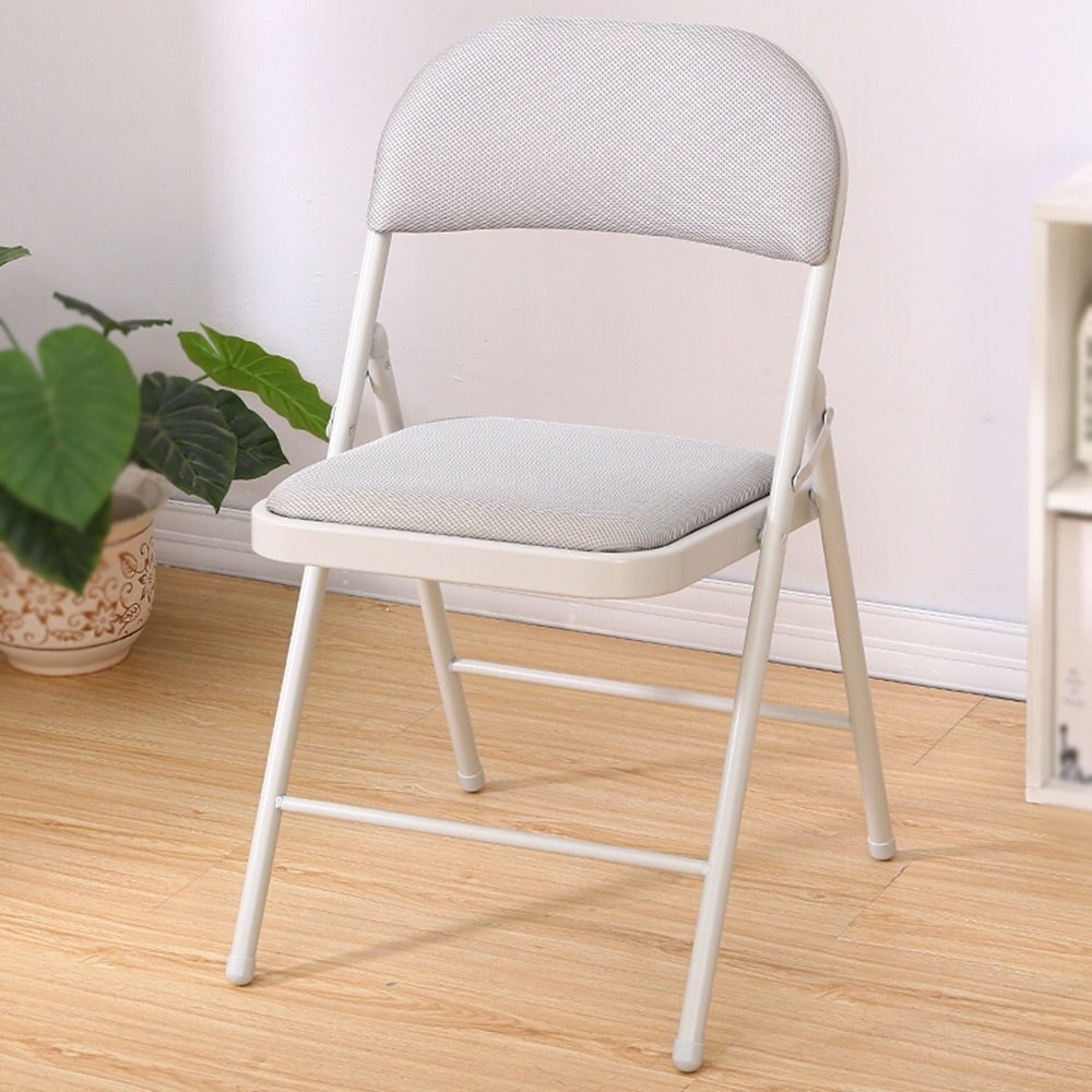 Gray folding chair / stool / home computer chair / office chair / folding backrest chair /Study Folding Chair /Office folding chair /Reception room folding chair /Conference Chair /