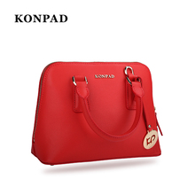 KB0098 2018 Newest Fashion Red Genuine Leather Ladies Handbag Top Handle Handbag for Women
