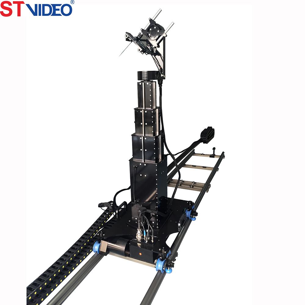 Jib Pole Crane : Telescopic camera about