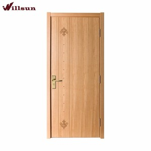 Rustic wood entry doors for house italy style with small marking China excellent craftsman