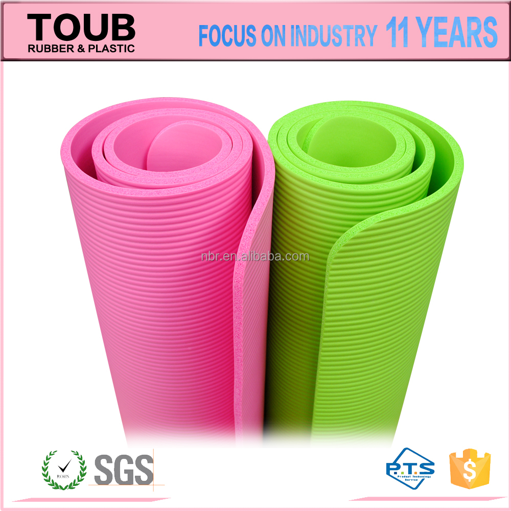 Anti Fatigue Nonslip OEM Mats For Sports Natural Folding NBR Yoga Mat <strong>Eco</strong>