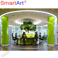 Office partition Glass wall, glass partition wall for office