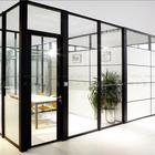 Double tempered vacuum glass aluminum partition for office with louver