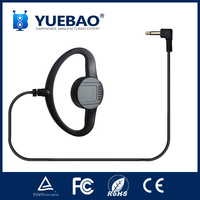 professional single sport ear-hook earphone for tour guide system or two way radio