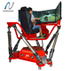 Exciting 360 degree 6dof f1 racing simulator car driving simulator with 3 screens