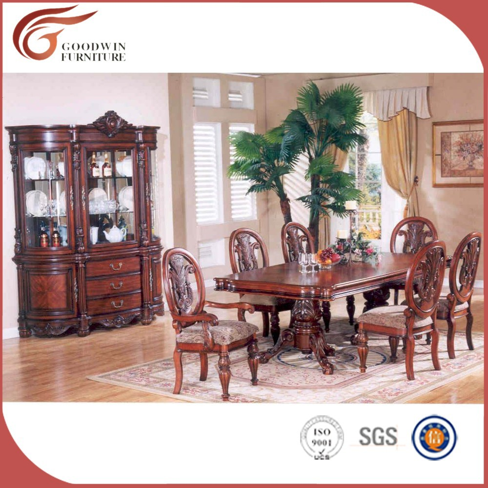 Mesa de comedor redonda con 6 sillas, madera de teca mesa de comedor ...