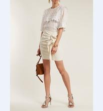 b8856585dd Oficina de la Mujer Faldas mujeres 2018 de verano faldas blanco algodón  apretado corto Mini faldas