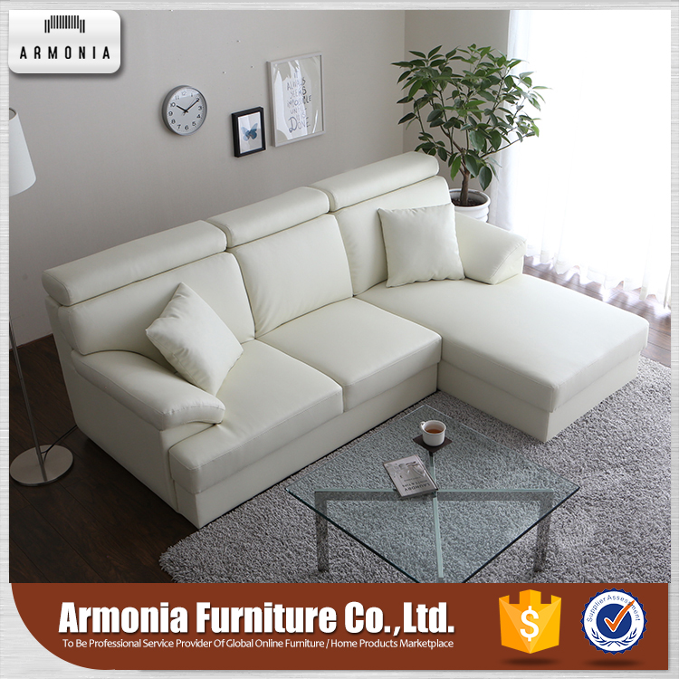 Modern Style Genuine Leather Trend Sofa Sectional White Set