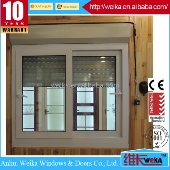 plastic sliding window and door aluminium sliding window with roller shutter