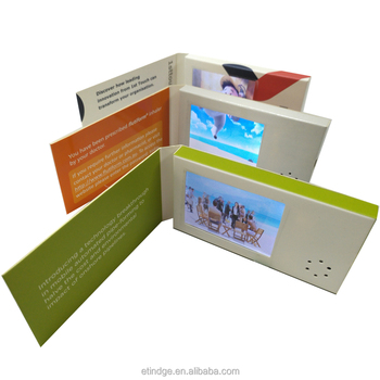 "ETG Famous brand 128mb 2.4 "" digital video business card with lcd screen for promotion"