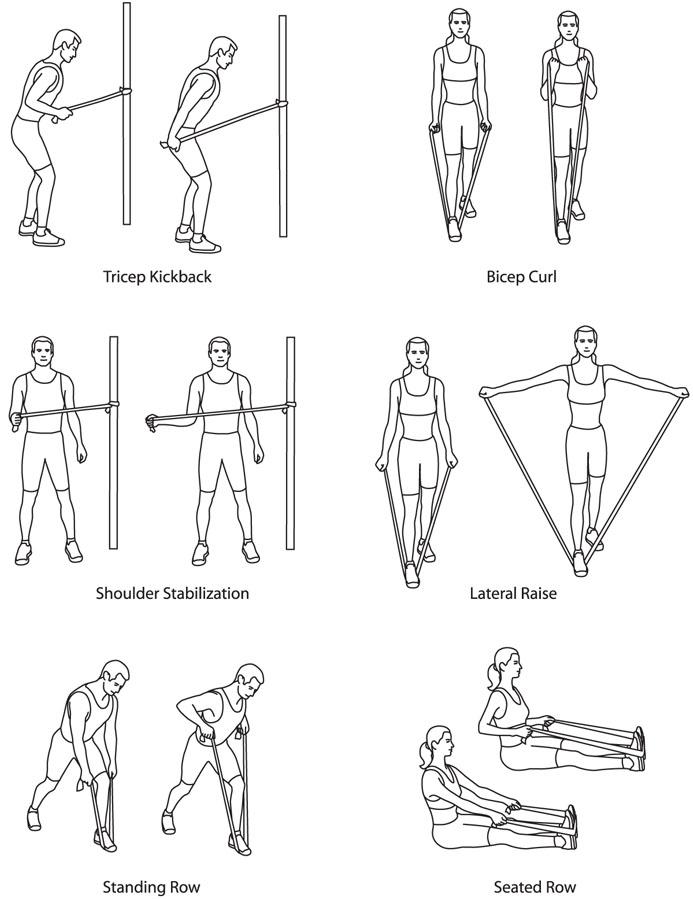 упражнения со жгутом с картинками вот